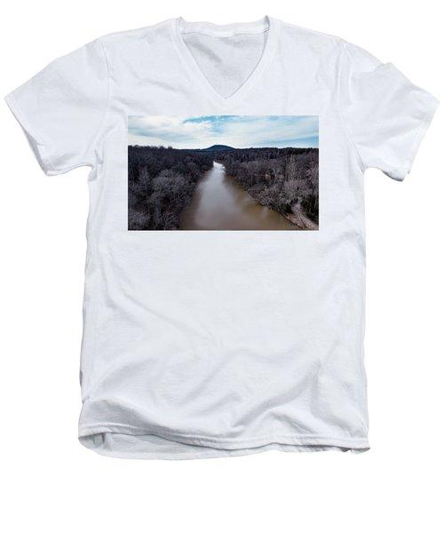 Aerial River View Men's V-Neck T-Shirt