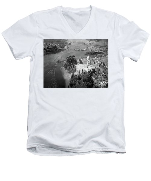 Aerial View Northward Over Olympia Men's V-Neck T-Shirt