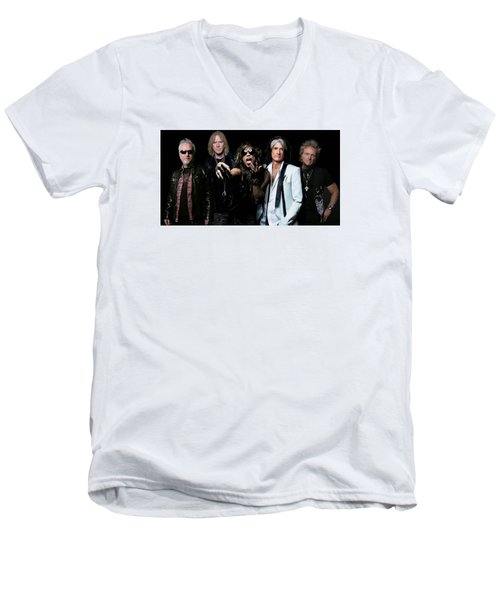Men's V-Neck T-Shirt featuring the photograph Aerosmith by Sean