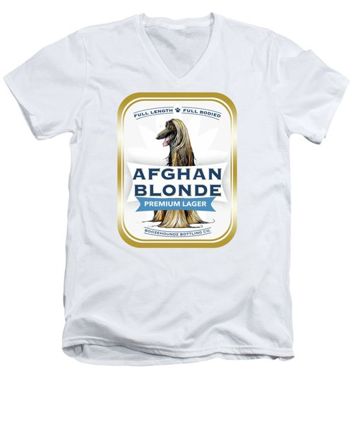 Afghan Blonde Premium Lager Men's V-Neck T-Shirt