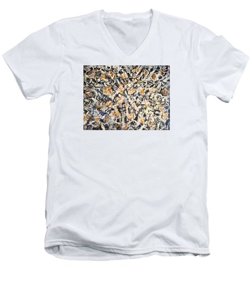 Men's V-Neck T-Shirt featuring the painting Africa Iv by Fereshteh Stoecklein