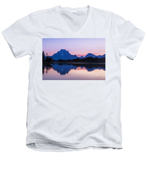 Men's V-Neck T-Shirt featuring the photograph After Glow by Andrew Soundarajan