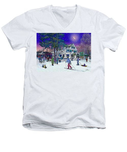 After The Storm At Woodstock Inn Men's V-Neck T-Shirt