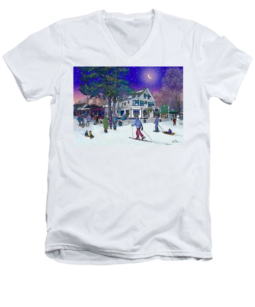 After The Storm At Woodstock Inn Men's V-Neck T-Shirt