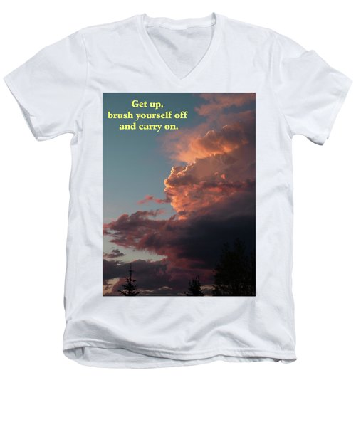 After The Storm Carry On Men's V-Neck T-Shirt by DeeLon Merritt