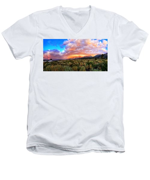 After The Storm Panorama Men's V-Neck T-Shirt