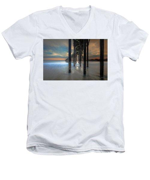 Afterglow At San Simeon Men's V-Neck T-Shirt