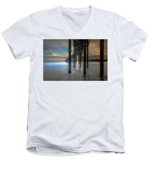 Afterglow At San Simeon Men's V-Neck T-Shirt