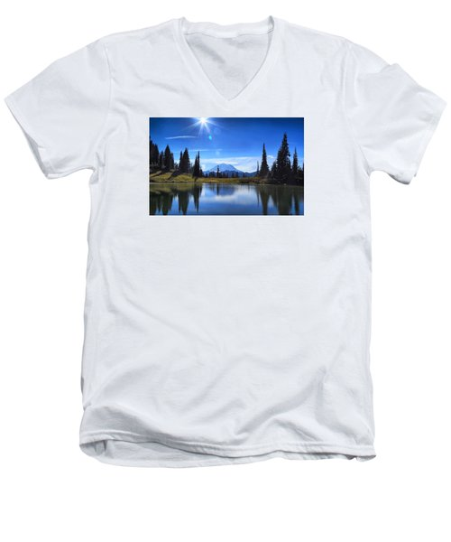 Men's V-Neck T-Shirt featuring the photograph Afternoon Delight 2 by Lynn Hopwood