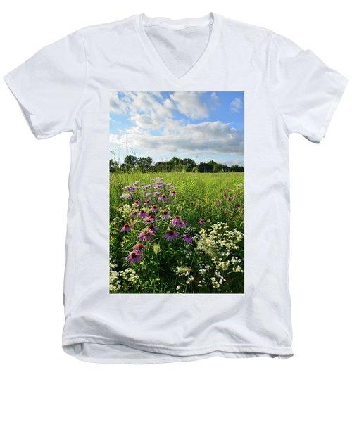 Afternoon In Moraine Hills State Park Men's V-Neck T-Shirt