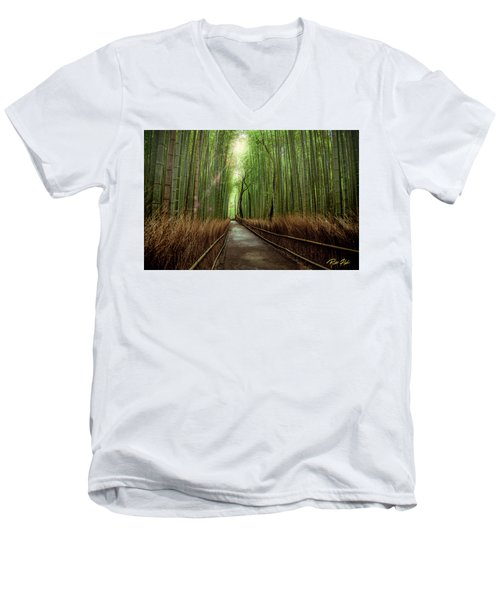 Afternoon In The Bamboo Men's V-Neck T-Shirt by Rikk Flohr