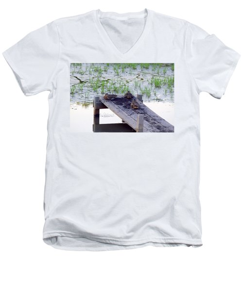 Men's V-Neck T-Shirt featuring the photograph Afternoon Rest by Deborah  Crew-Johnson