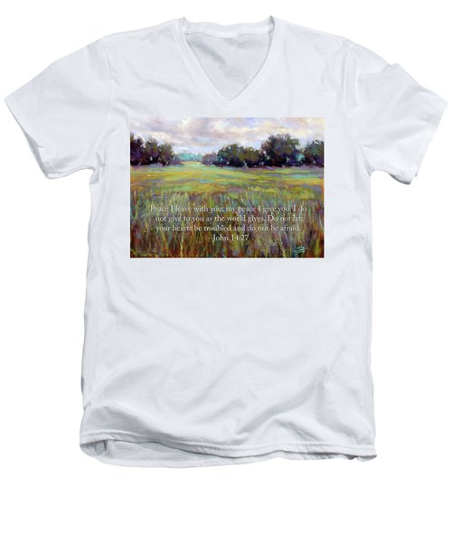 Afternoon Serenity With Bible Verse Men's V-Neck T-Shirt