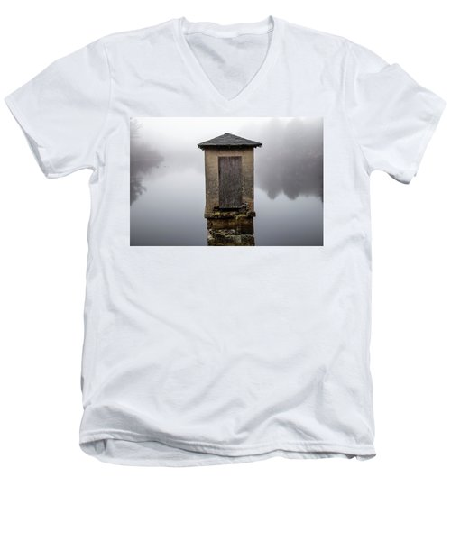 Men's V-Neck T-Shirt featuring the photograph Against The Fog by Karol Livote