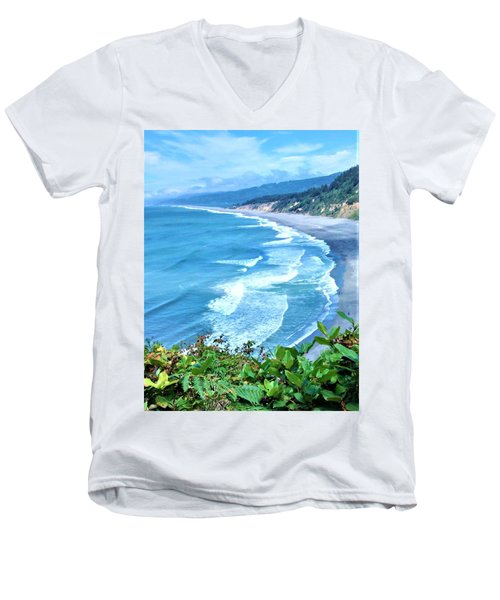 Agate Beach Men's V-Neck T-Shirt