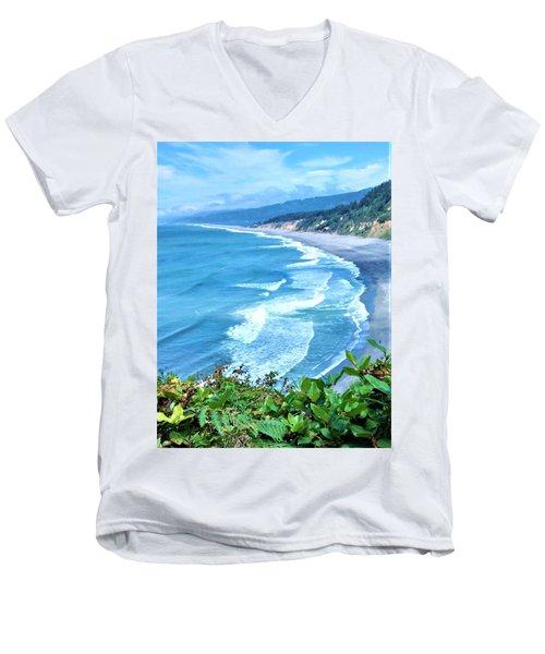 Agate Beach Men's V-Neck T-Shirt
