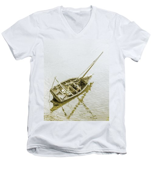 Aground Men's V-Neck T-Shirt by Patrick Kain