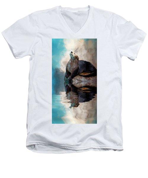 Ahhhhhhhh Men's V-Neck T-Shirt by Cyndy Doty