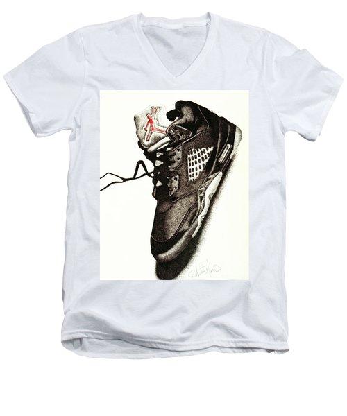 Air Jordan Men's V-Neck T-Shirt by Robert Morin
