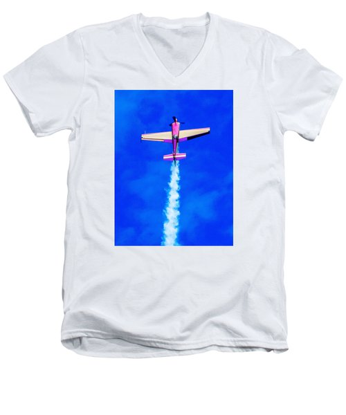 Air Show Men's V-Neck T-Shirt by Michael Nowotny