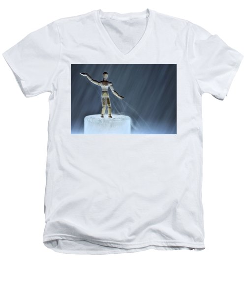Men's V-Neck T-Shirt featuring the photograph Airbender by Mark Fuller