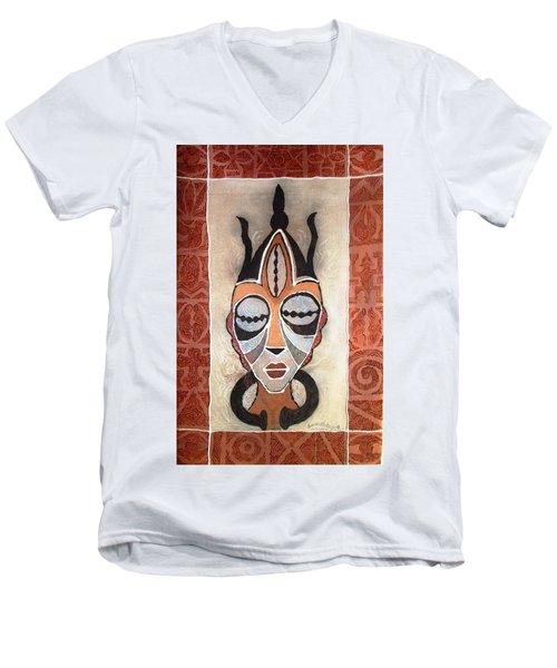 Aje Mask Men's V-Neck T-Shirt by Bankole Abe
