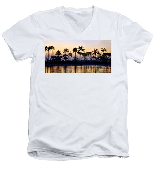 Men's V-Neck T-Shirt featuring the photograph Ala Wai Harbor by Gina Savage