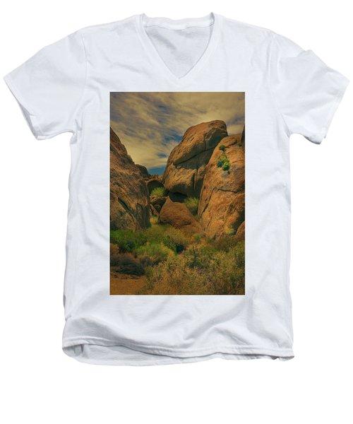 Alabama Hills - Eastern Sierras - Two Men's V-Neck T-Shirt