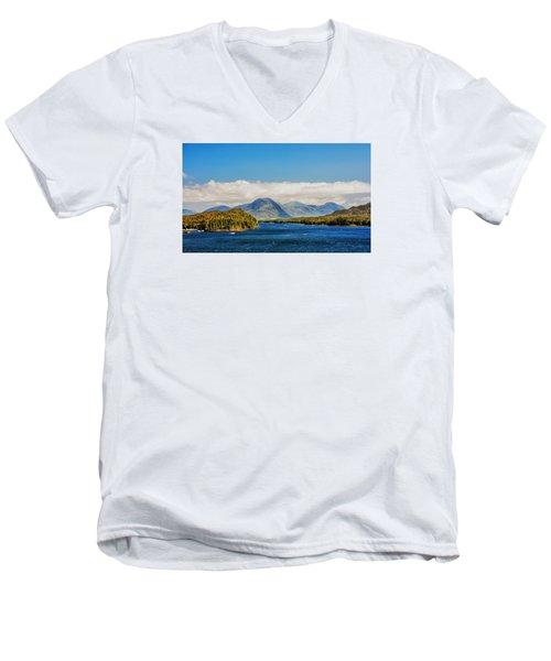 Alaskan Wilderness Men's V-Neck T-Shirt by Lewis Mann