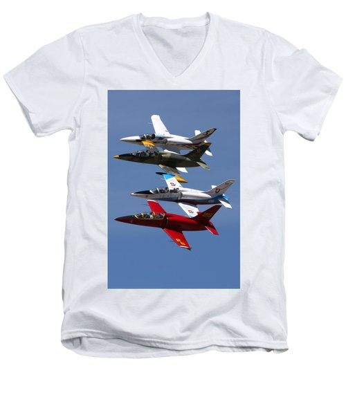Albtatros Fly-by At The Hollister Air Show Men's V-Neck T-Shirt