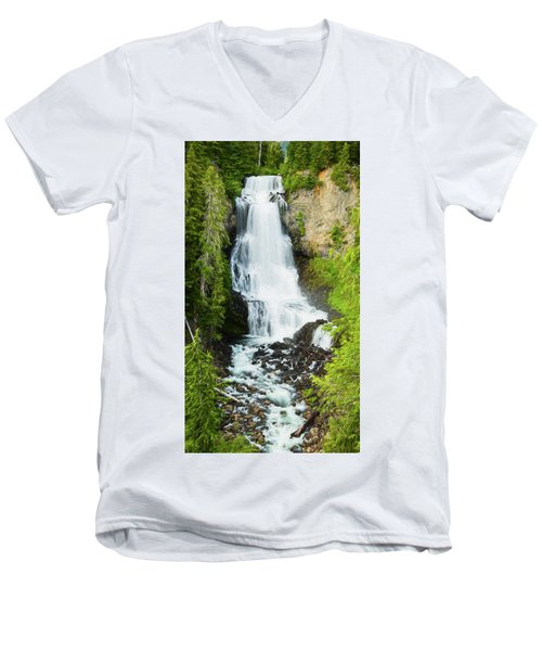 Men's V-Neck T-Shirt featuring the photograph Alexander Falls - 2 by Stephen Stookey