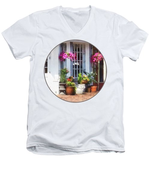 Alexandria Va - Corner Of King Street And S Alfred Men's V-Neck T-Shirt