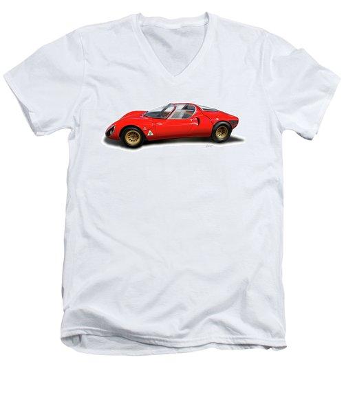 Alfa Romeo 33 Stradale 1967 Men's V-Neck T-Shirt