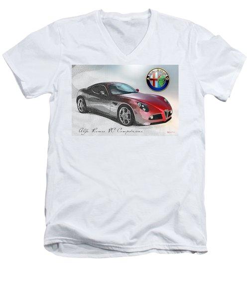 Alfa Romeo 8c Competizione  Men's V-Neck T-Shirt
