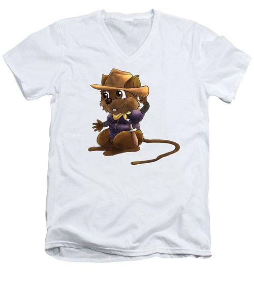 Deputy Alfred Men's V-Neck T-Shirt by Reynold Jay