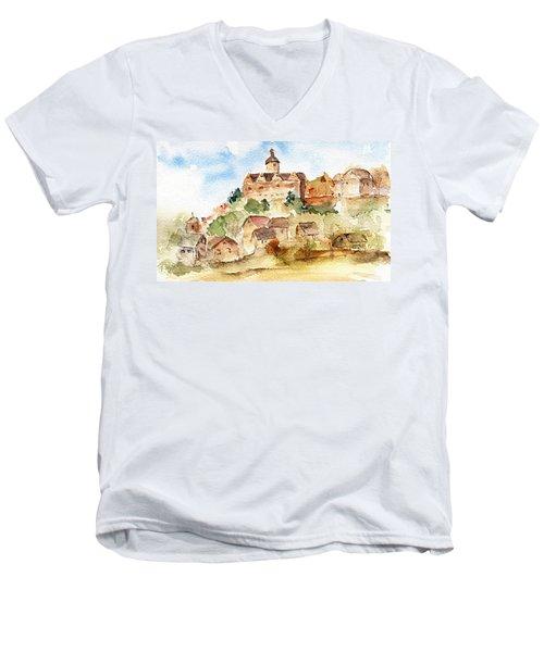 Alice's Castle Men's V-Neck T-Shirt by Anne Duke