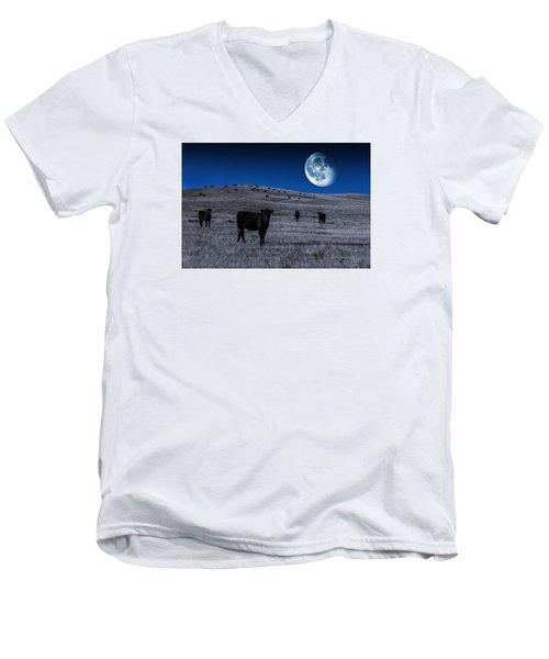 Alien Cows Men's V-Neck T-Shirt