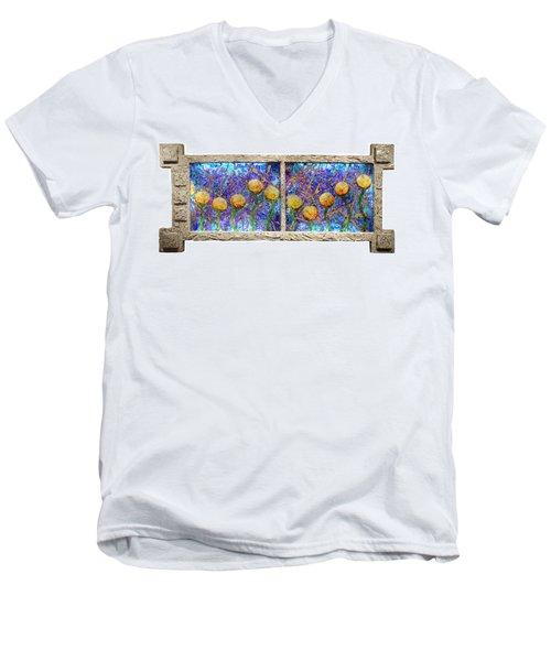 Alien Flowers Men's V-Neck T-Shirt