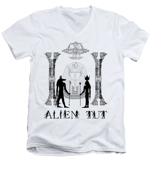 Men's V-Neck T-Shirt featuring the photograph Alien King Tut by Robert G Kernodle