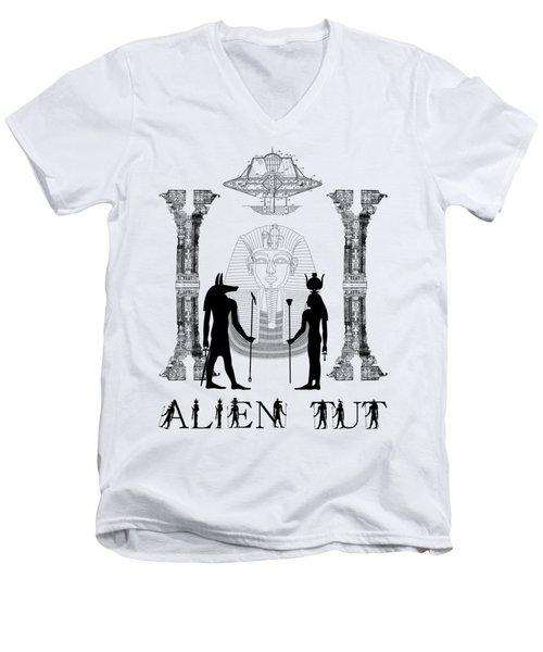 Alien King Tut Men's V-Neck T-Shirt