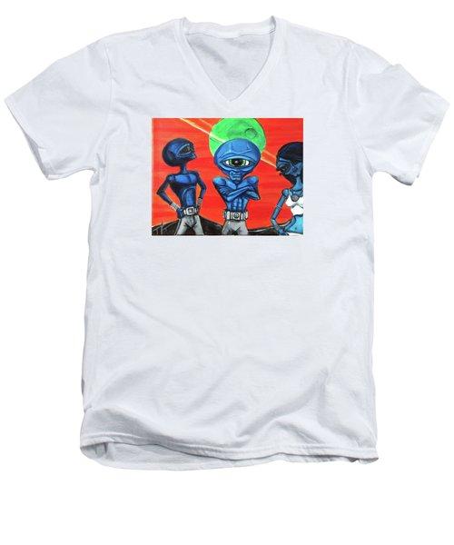 Alien Posse Men's V-Neck T-Shirt