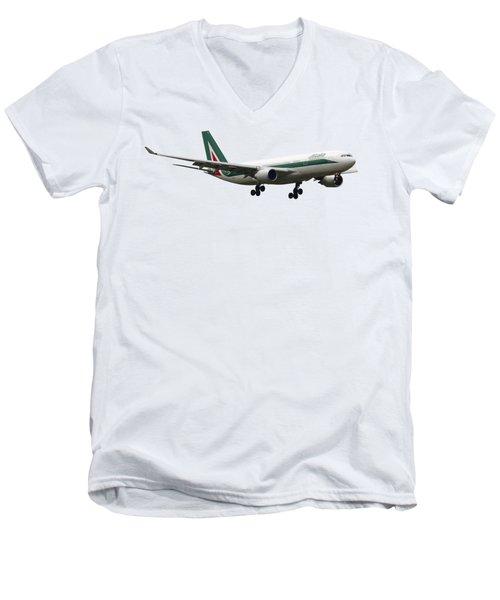 Alitalia, Airbus A330-202. Men's V-Neck T-Shirt