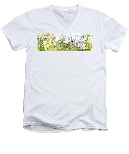 Alive In A Spring Garden Men's V-Neck T-Shirt