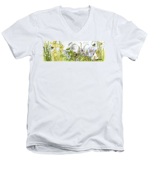 Alive In A Spring Garden Men's V-Neck T-Shirt