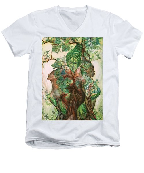 Alive Tree Men's V-Neck T-Shirt