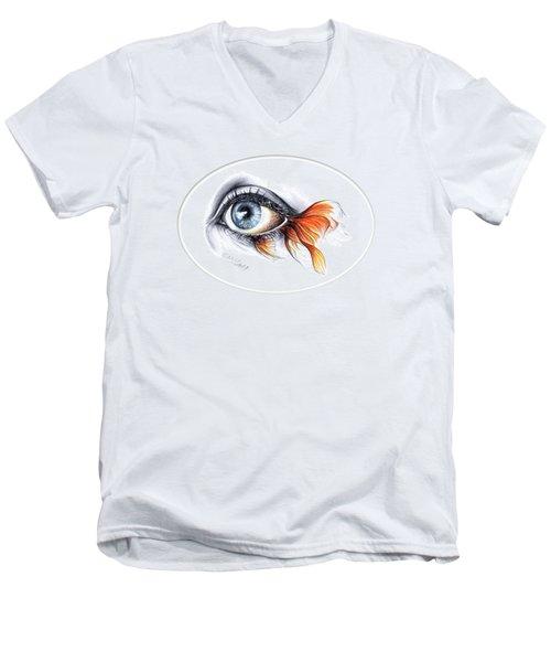 All I See Is A Sea Men's V-Neck T-Shirt by E Drawings