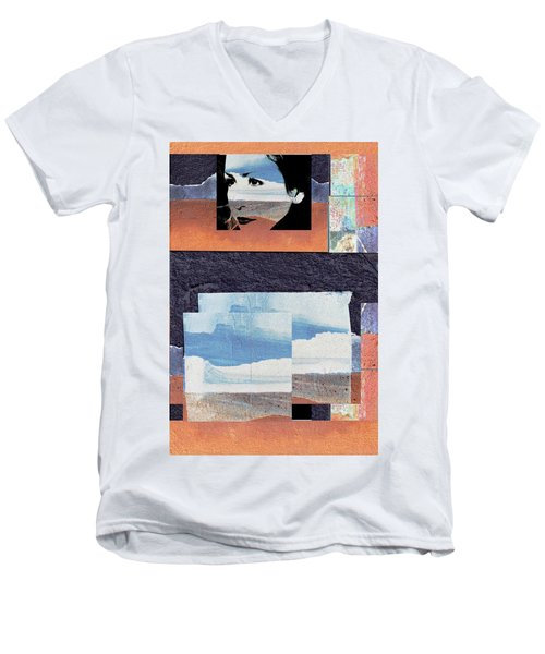 Men's V-Neck T-Shirt featuring the photograph All That We See Or Seem Is But A Dream Within A Dream, Even She by Danica Radman