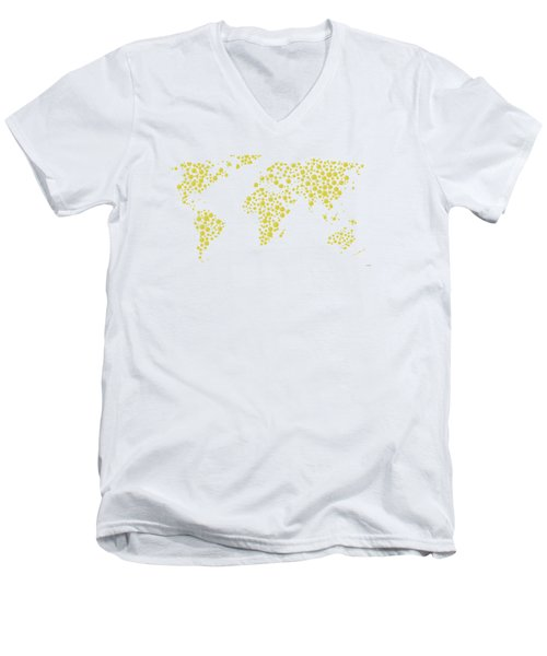 All The World Plays Tennis Men's V-Neck T-Shirt