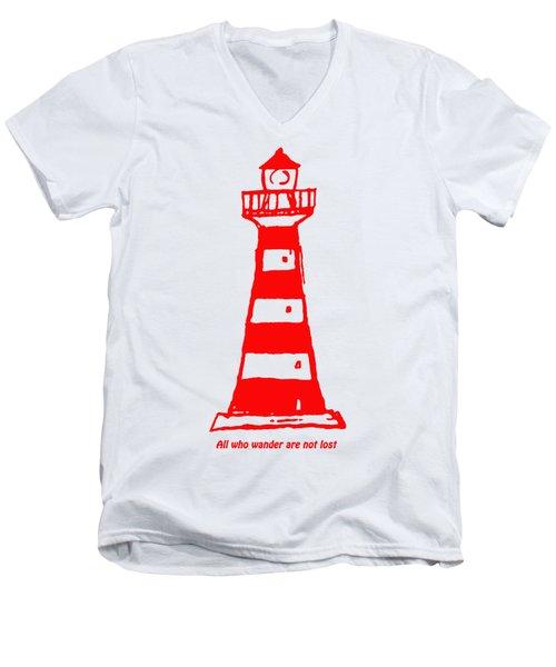 All Who Wander Men's V-Neck T-Shirt by Gillian Singleton