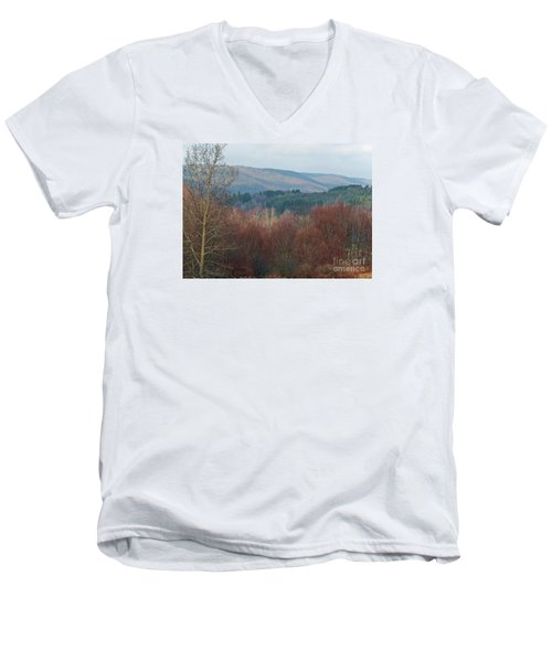 Men's V-Neck T-Shirt featuring the photograph Allegany Rhapsody by Christian Mattison